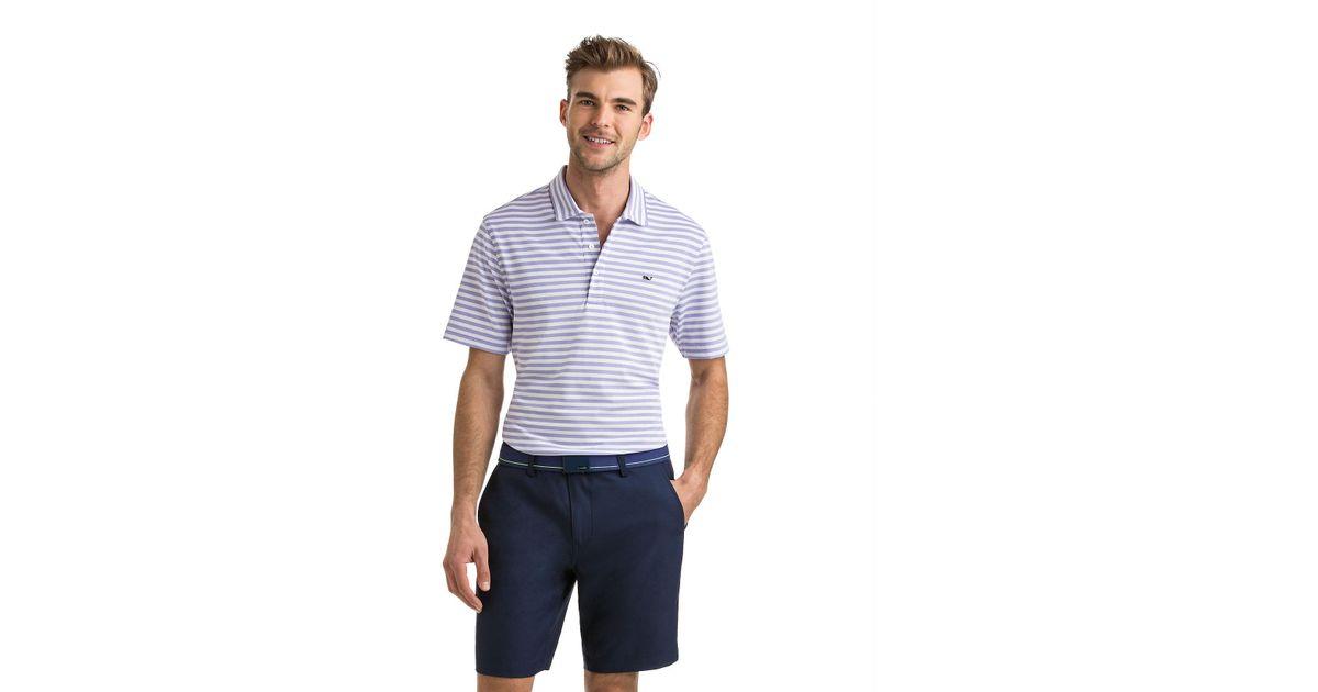 6391f8d80ee6e9 Vineyard Vines Lake Stripe Pique Polo in Blue for Men - Lyst