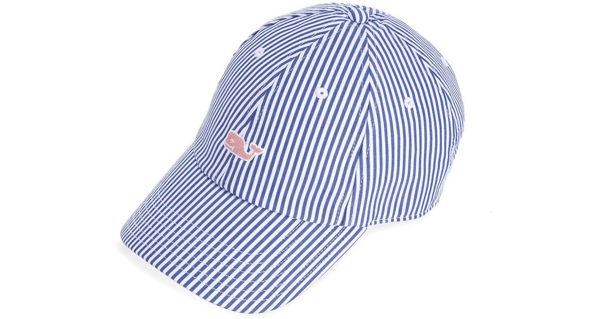ef97a010f Vineyard Vines Blue Dune Striped Baseball Hat