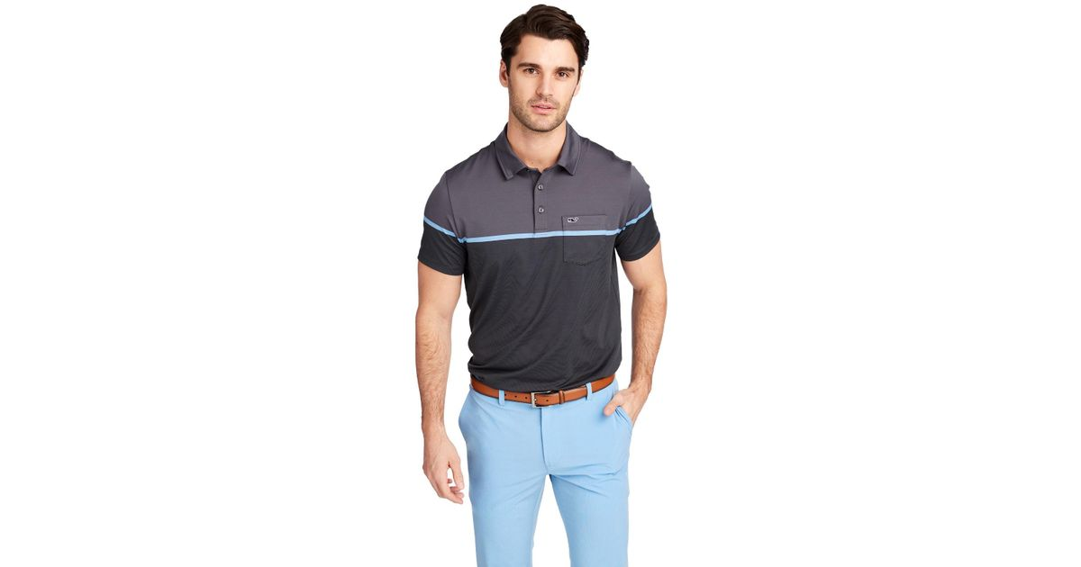 a1ed1e3fb3 Lyst - Vineyard Vines Caneel Bay Striped Bowline Fit Polo for Men