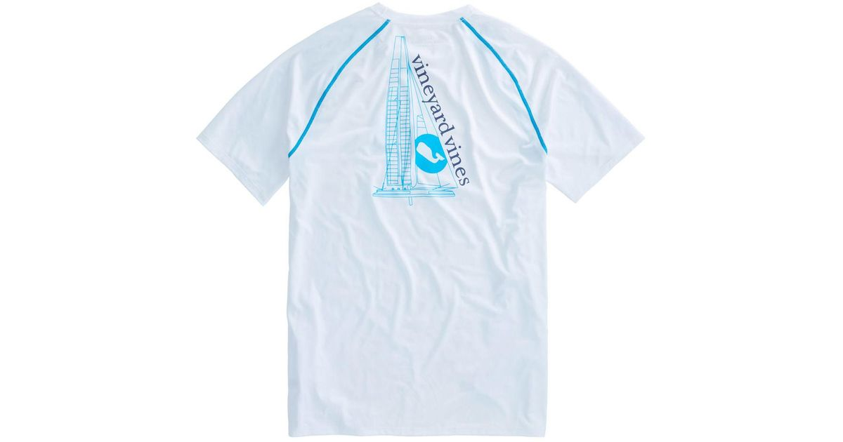 Lyst - Vineyard Vines Catamaran Performance T-shirt in Blue for Men 083a476968e7