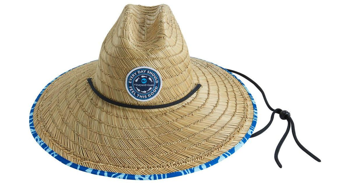 Lyst Vineyard Vines Straw Lifeguard Hat In Natural For Men