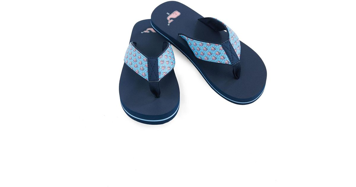 6415dce3ef43 Lyst - Vineyard Vines Whale Tail Classic Flip Flops in Blue - Save 26%