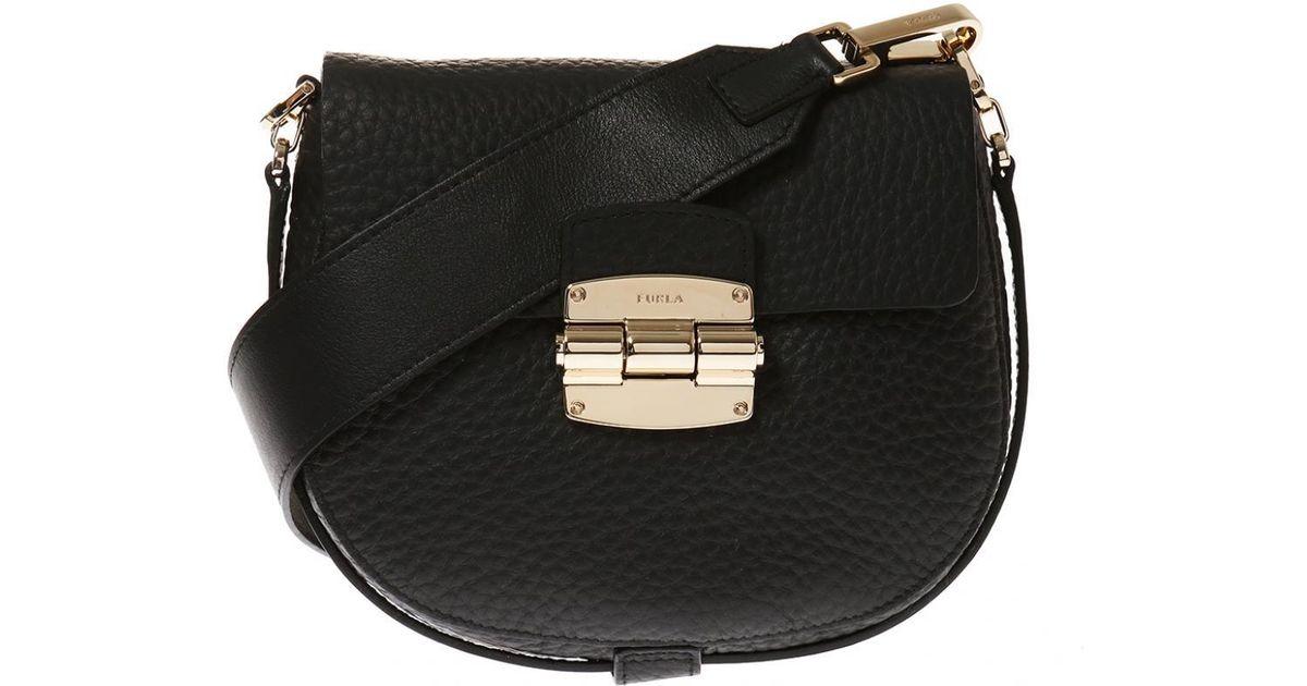 363c39a5880b Lyst - Furla  qub Club  Shoulder Bag in Black