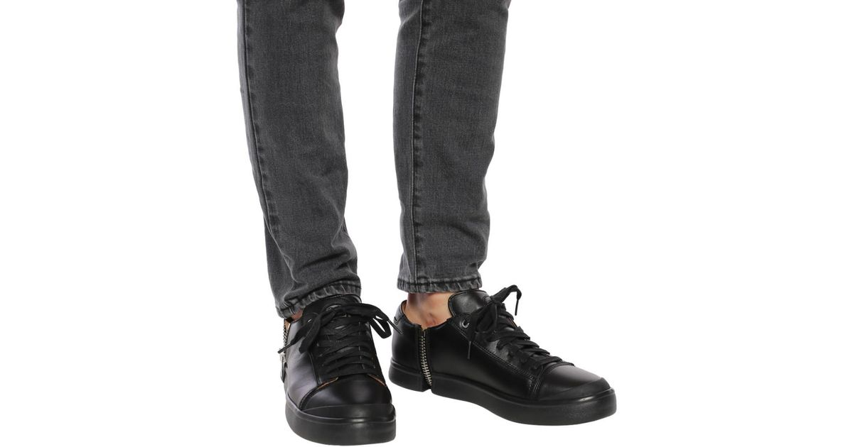 DIESEL Leather 's-nentish Low' Sneakers