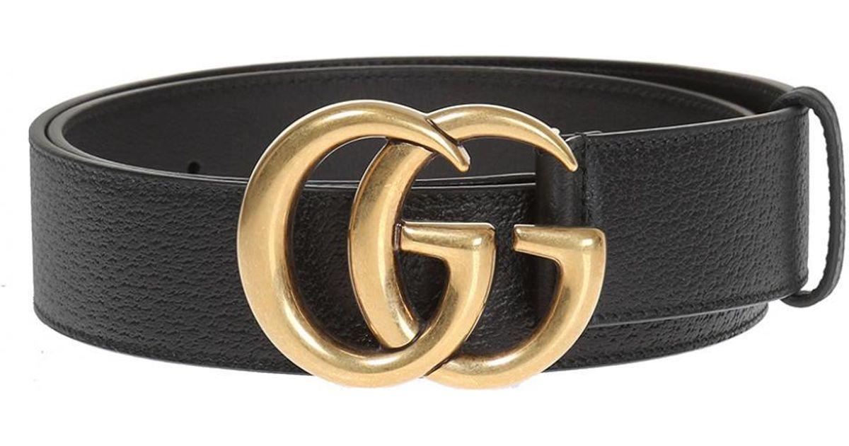 77982e6fd9e Gucci Leather Belt in Black for Men - Save 3.4375% - Lyst