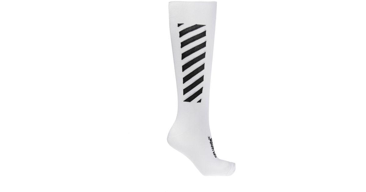 dfadb08c80f Off-White c o Virgil Abloh Long Socks in White for Men - Lyst
