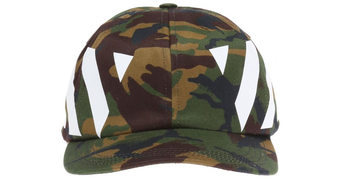 03d51c111a6 Lyst - Off-White c o Virgil Abloh Camo Baseball Cap in Green for Men