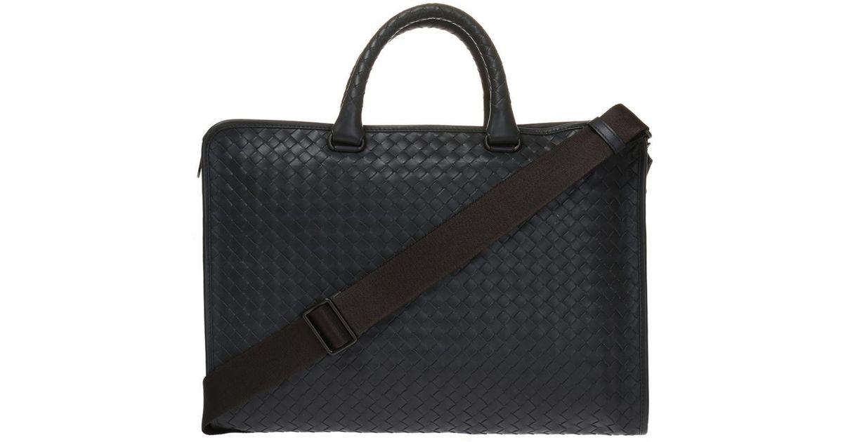 8a2e0fee6367 Bottega Veneta  intrecciato  Briefcase in Gray for Men - Lyst