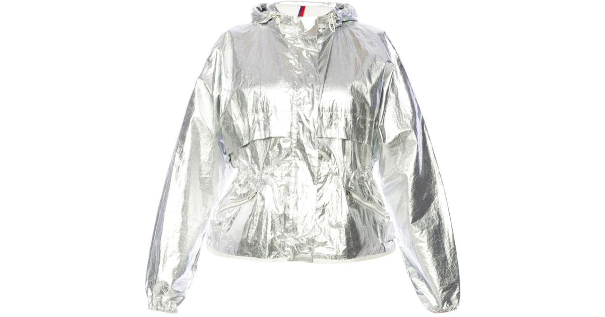 12e990141 Moncler Metallic Jacket With Wide Sleeves