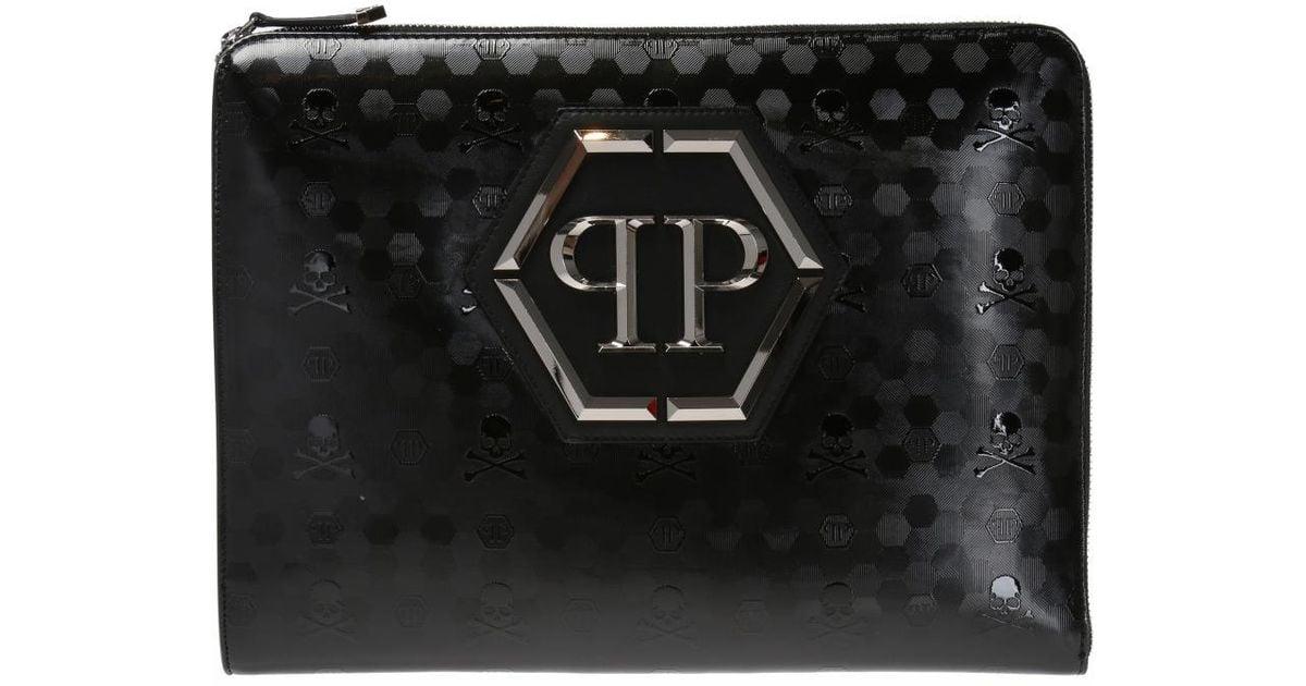 Philipp Plein Black Want clutch bag eq2Wl