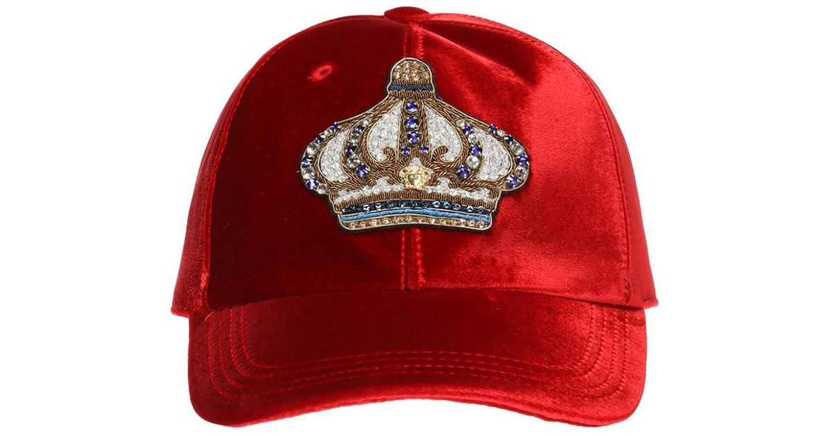 7e6db5a53f41a Lyst - Versace Crown Baseball Cap in Red for Men