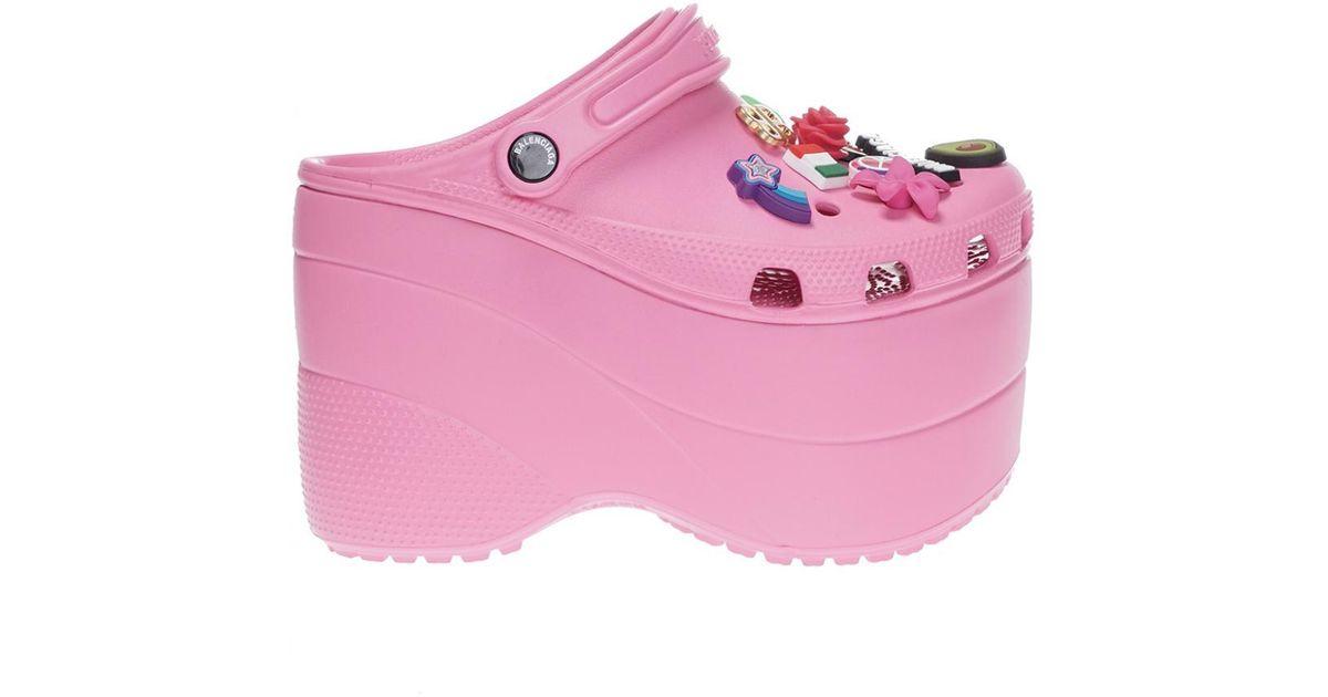 Balenciaga Rubber X Crocs in Pink - Lyst