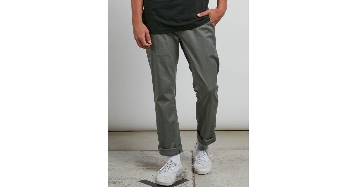 Volcom Green Men Chino Modern Stretch Frickin Pants For 80yvNnmwO