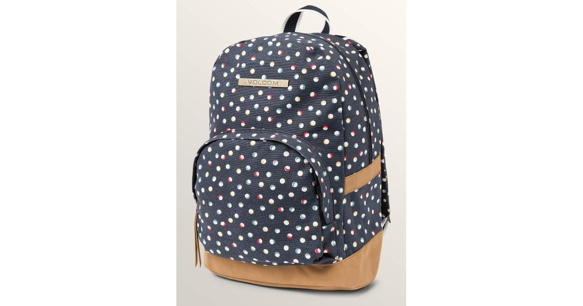 d3823d4f737d Lyst - Volcom Vacations Canvas Backpack - Sea Navy - O s in Blue