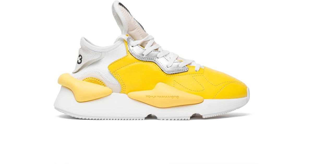 484c14eafd107 Lyst - Y-3 Kaiwa Sneakers in Yellow for Men