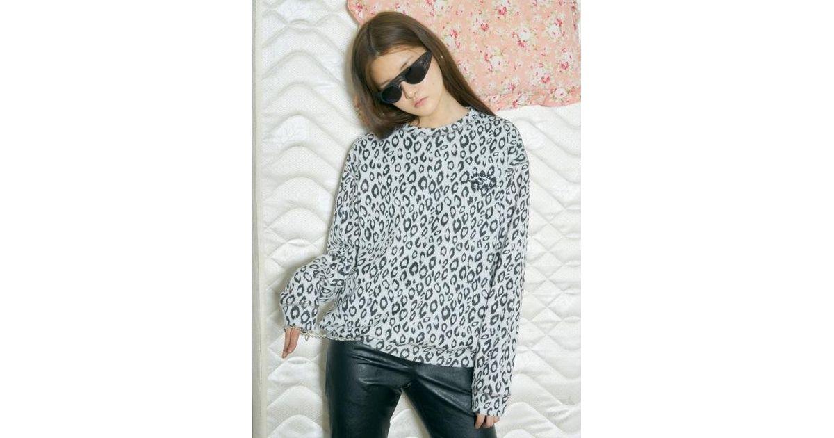 308b6af97322 Baby Centaur Baby Leopard Sweat Shirts White in White - Lyst