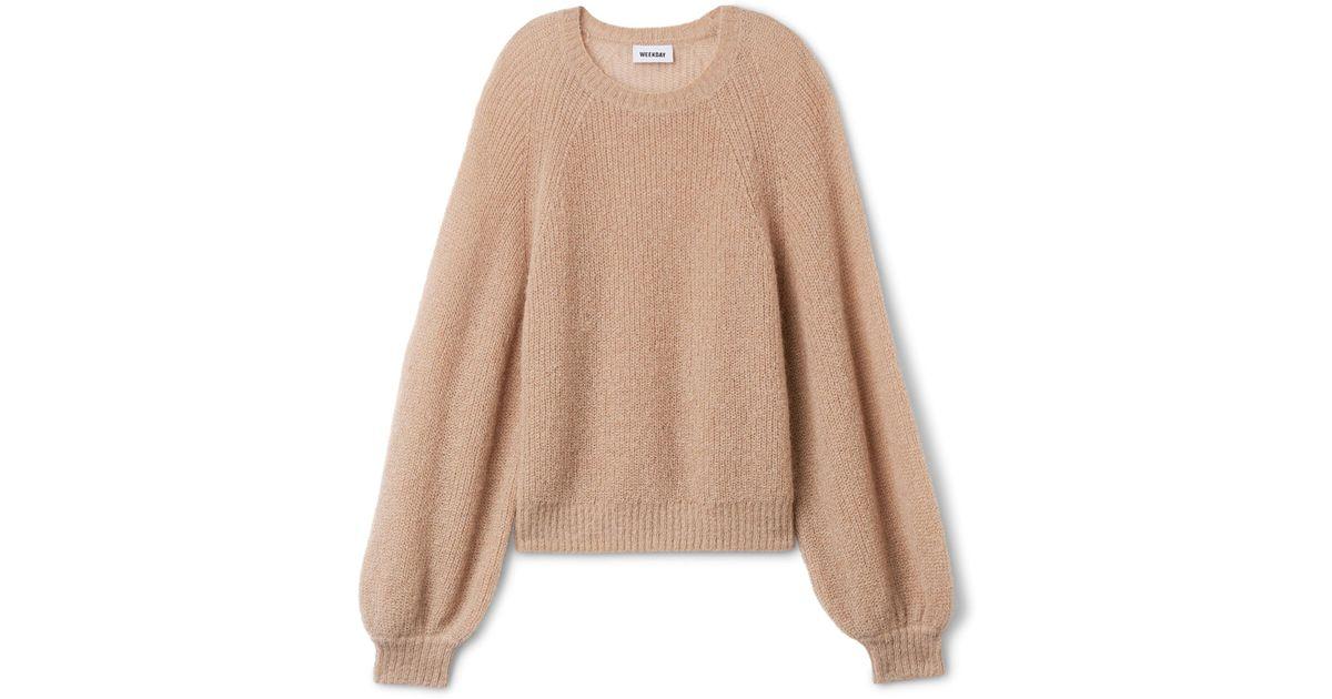 Weekday Joni Sweater - Lyst 243263265