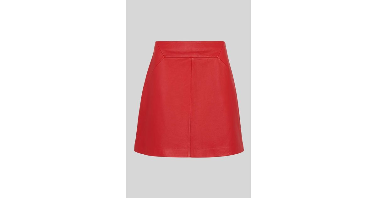 new beautiful style exclusive shoes Whistles Leather A Line Skirt in Red - Lyst