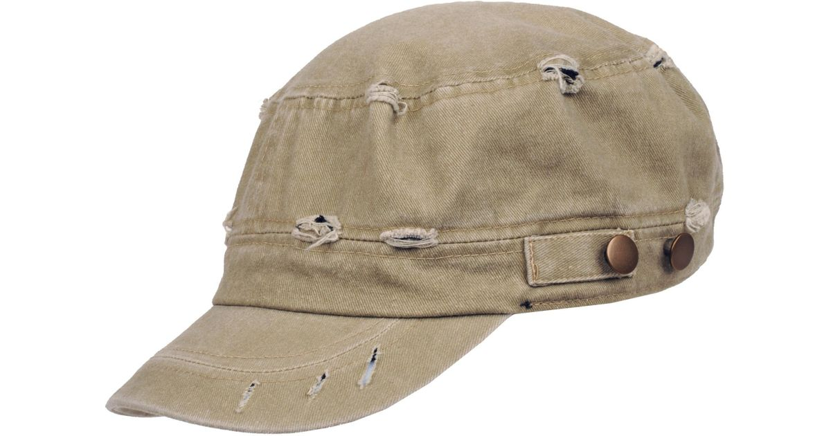 Lyst - Wilsons Leather Cotton Distressed Cadet Hat in Natural for Men 24e1d188db3