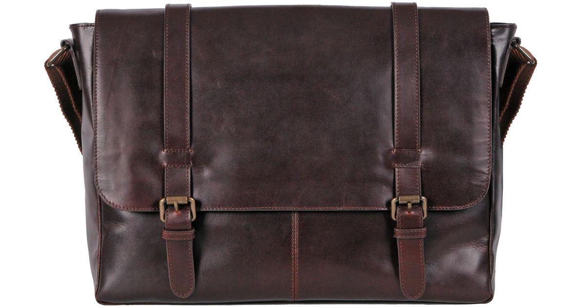 Lyst Wilsons Leather Dakota Skinny Strap Messenger Bag In Brown For Men