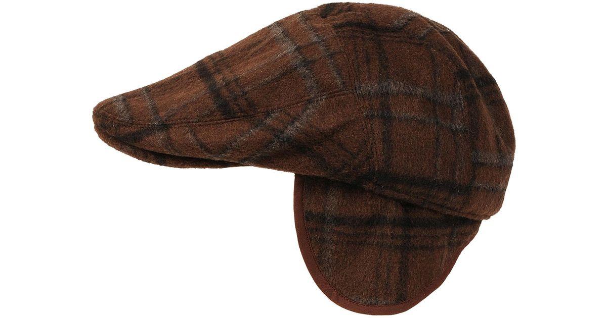 3469d79c3c026 Lyst - Wilsons Leather Black Rivet Brushed Plaid Ivy Cap in Brown for Men