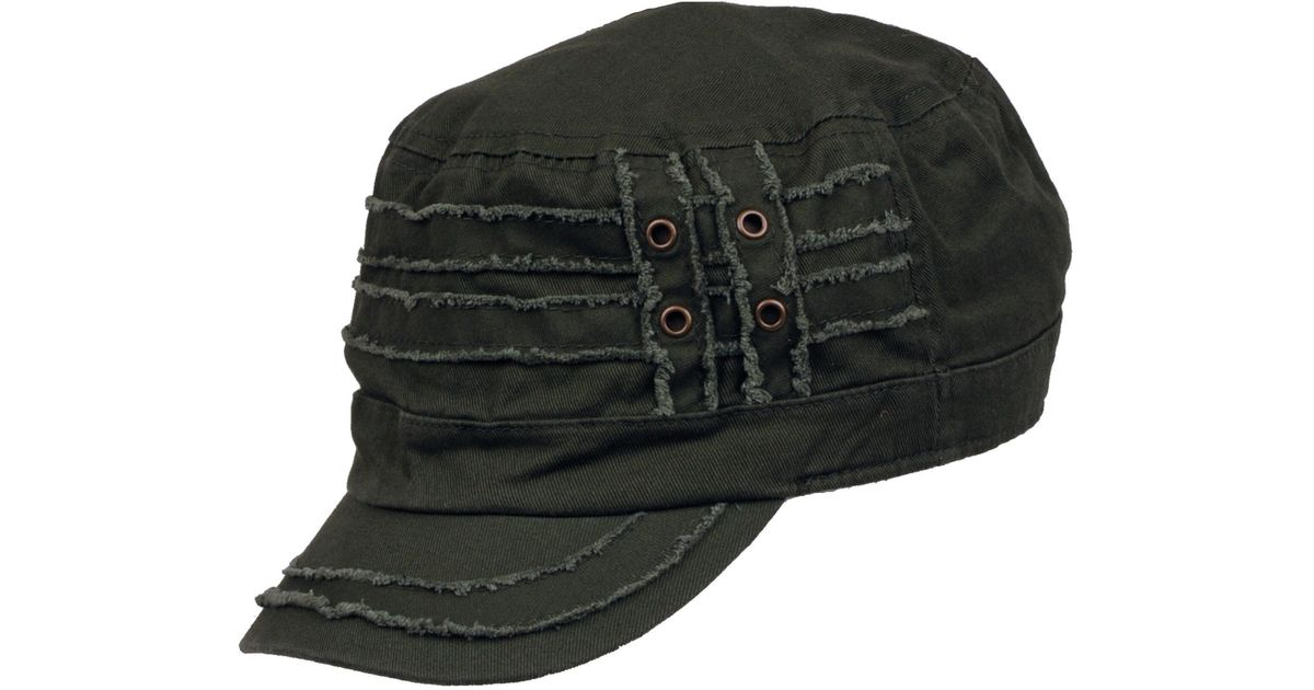 Lyst - Wilsons Leather Distressed Fully Lined Cadet Cap in Green for Men 8d9c483ae07