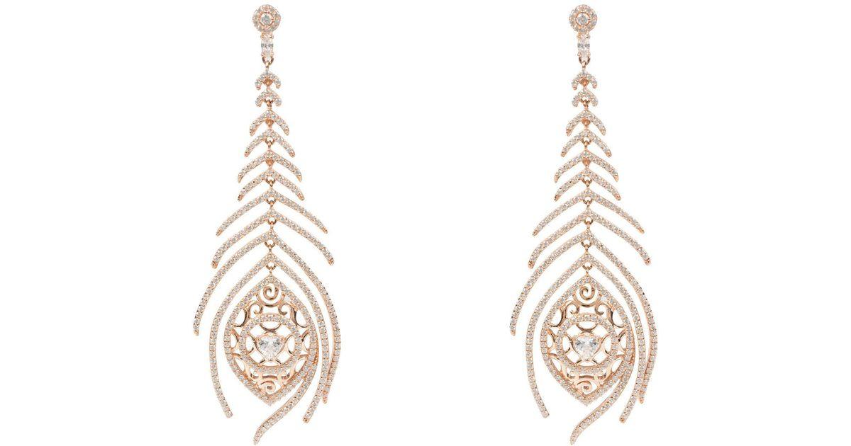 Latelita London Peacock Earring Rose Gold czY4l