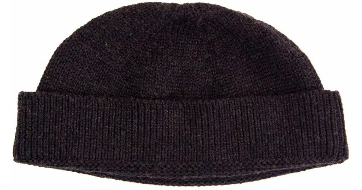 35647d7a3ff 40 Colori Charcoal Solid Wool Fisherman Beanie in Gray for Men - Lyst