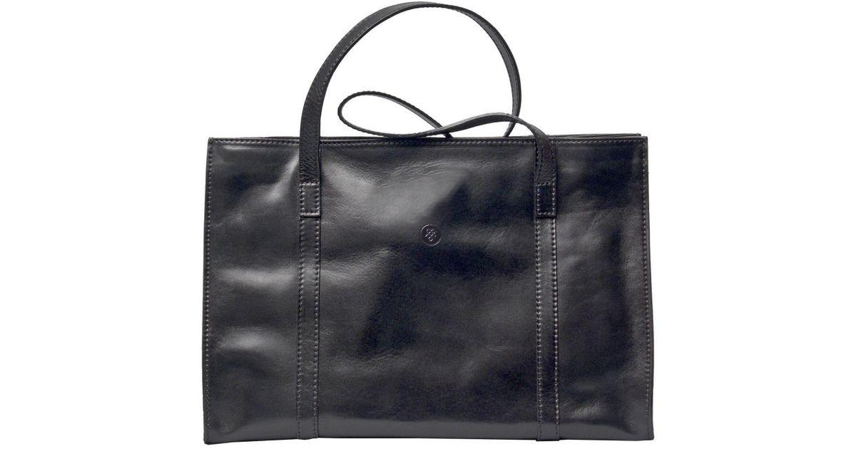 Maxwell Scott Bags Luxury Italian Leather Women S Work Bag Briefcase Rivara Night Black