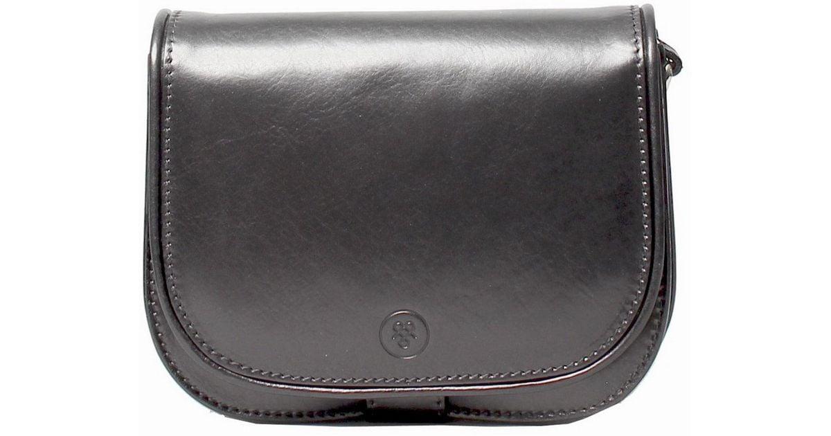 Maxwell Scott Bags Luxury Italian Leather Women S Saddlebag Purse Medium Medolla M Night Black In Lyst