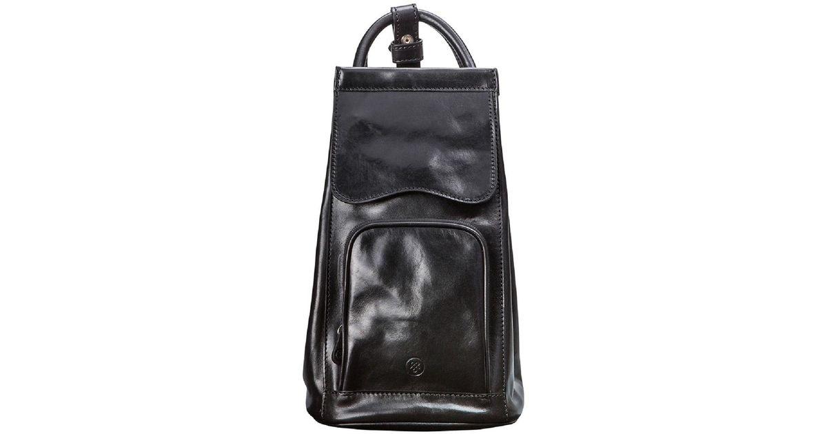 4c8376e907d4 Lyst - Maxwell Scott Bags Luxury Italian Leather Women s Backpack Handbag  Carli Black in Black