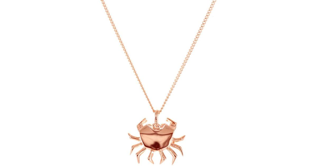 Origami Jewellery Sterling Silver Gold Plated Crab Necklace AgwIbzB9n