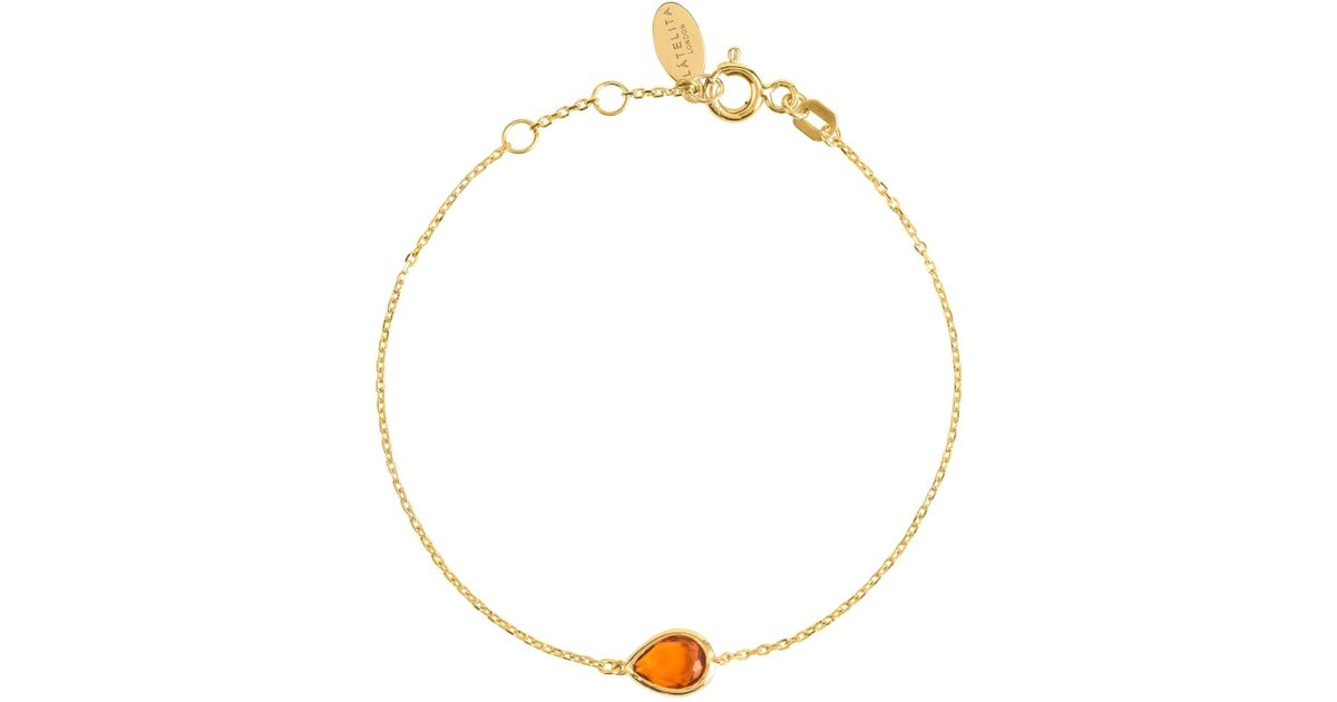 Latelita London Venice Bracelet Gold Citrine A1aXE2OE