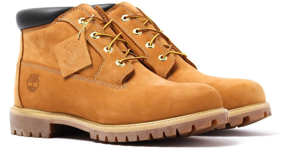 großer Rabatt Sportschuhe erstaunlicher Preis Timberland Brown Icon Classic Wheat Yellow & Chocolate Mid Chukka Boot for  men