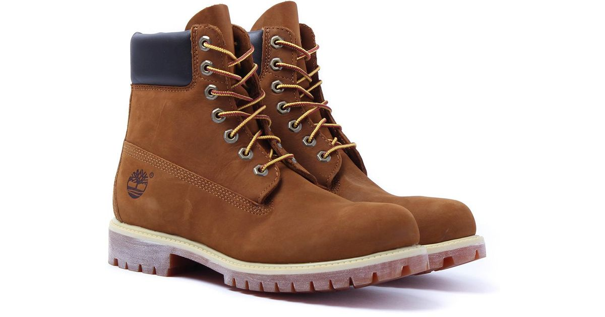 ed77ef6ac4f9 Lyst - Timberland Rust Nubuck 6-inch Premium Waterproof Boots in Brown for  Men