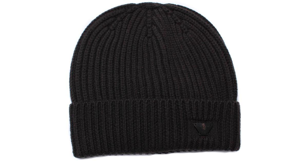 b79feadde30 Armani Jeans Brown Woollen Rib Knit Beanie Hat in Brown for Men - Lyst