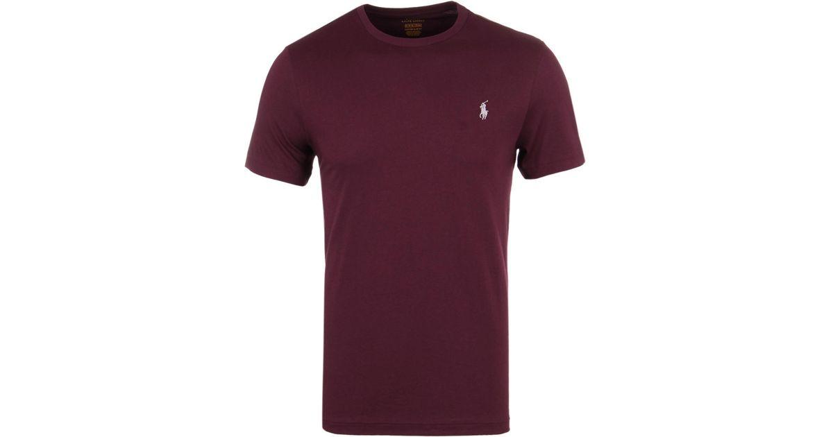Fit T Ralph Classic Lauren For Shirt Purple Polo Burgundy Men Custom vwy8Nn0Om