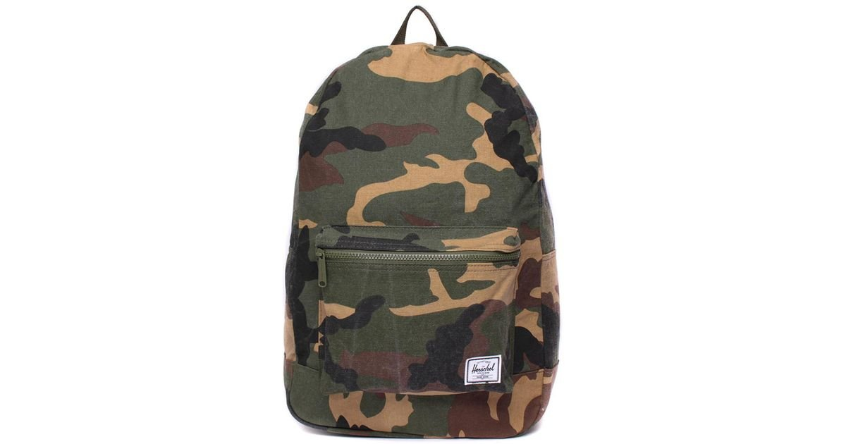 56aab88891 Lyst - Herschel Supply Co. Daypack Woodland Camo Cotton Canvas Backpack in  Green for Men