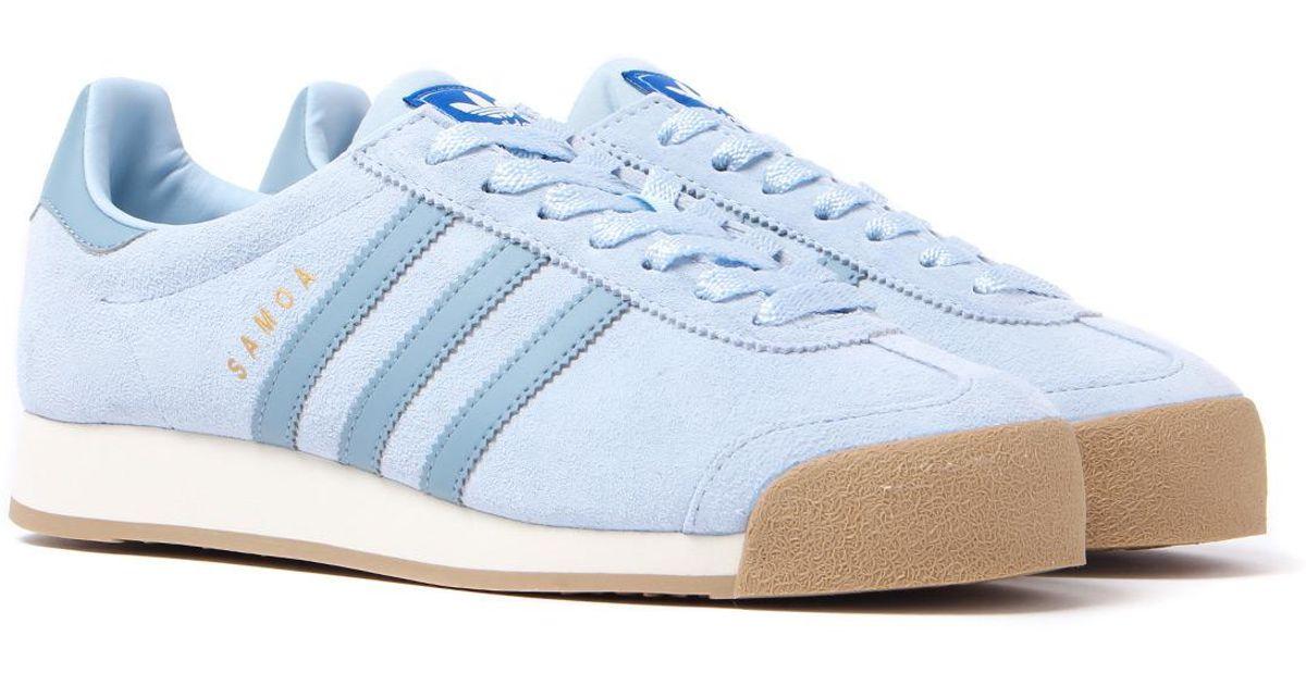 Adidas Originals Samoa Vntg Light Blue Suede Trainers