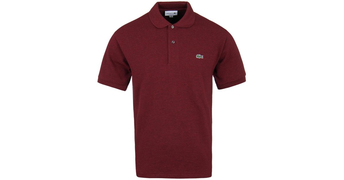 fcb5ebc7badb6 Lyst - Lacoste Rouge Basque Marl Classic Fit Pique Polo Shirt in Red for Men