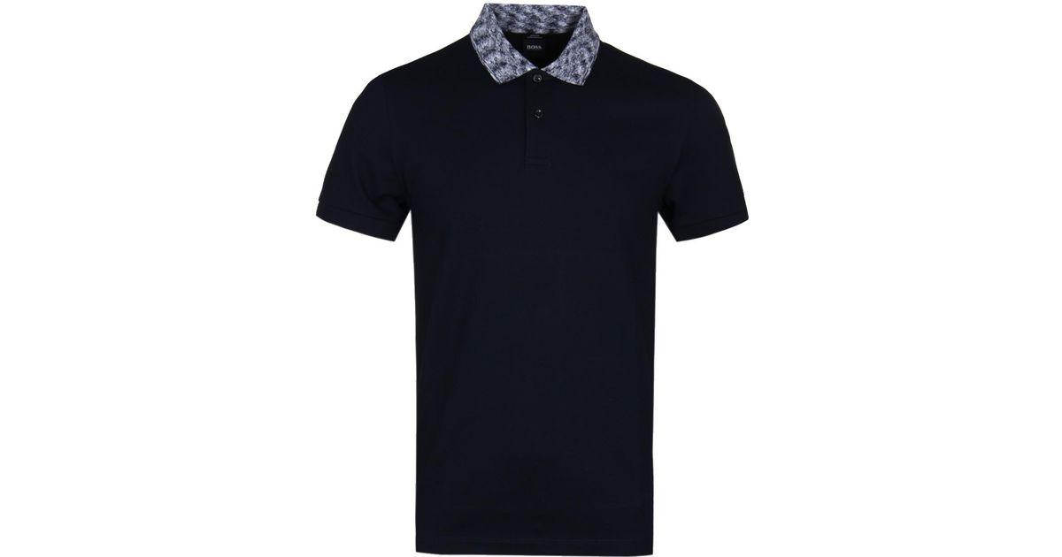 59b0bd7ad BOSS by Hugo Boss Boss Phillipson33 Navy Polo Shirt in Blue for Men - Lyst
