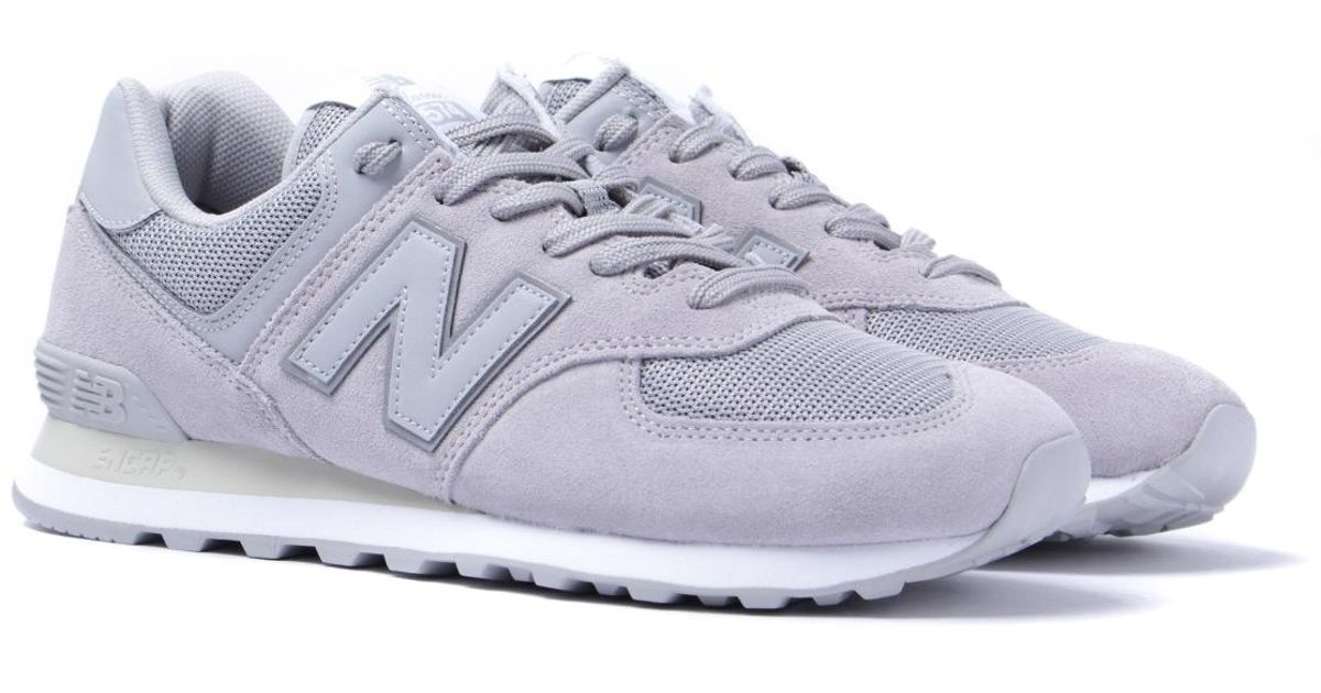 Gray For Grey New Men 574 Trainers Suede Lyst Light In Balance D9Y2eWIEH