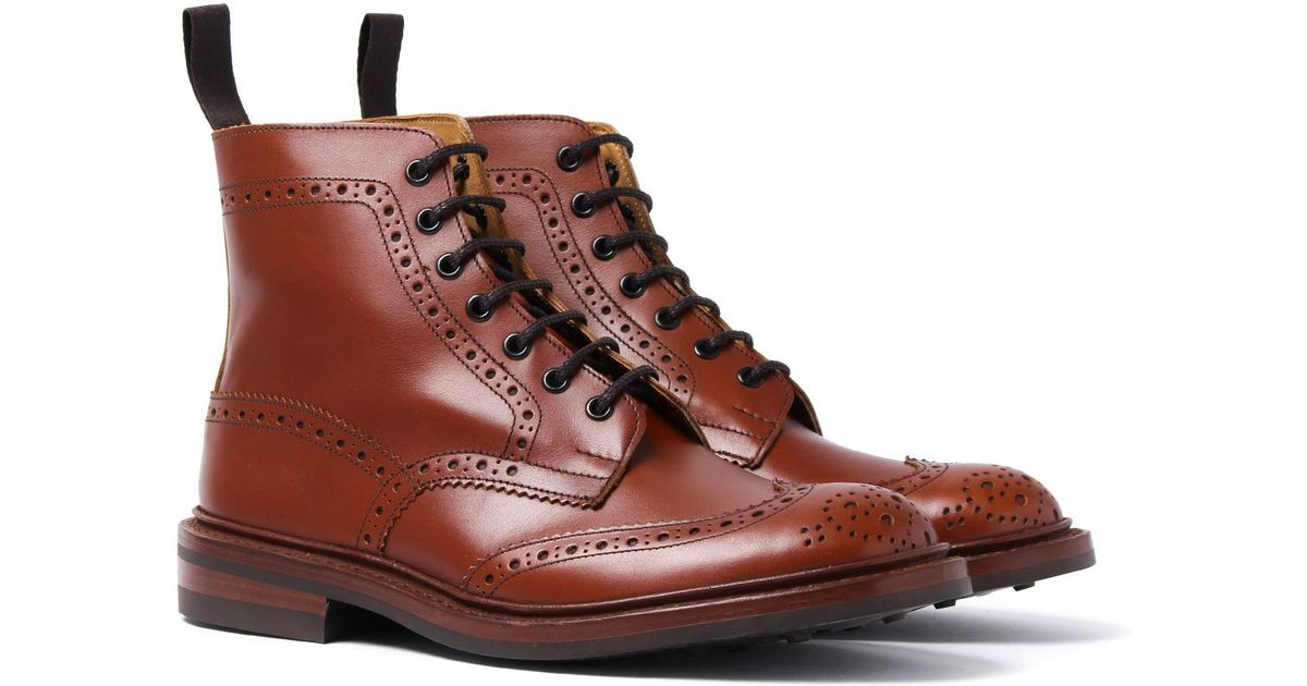 e6a50c1be11 Tricker s Tricker s Stow Marron Antique Brogue Derby Country Boots in Brown  for Men - Lyst