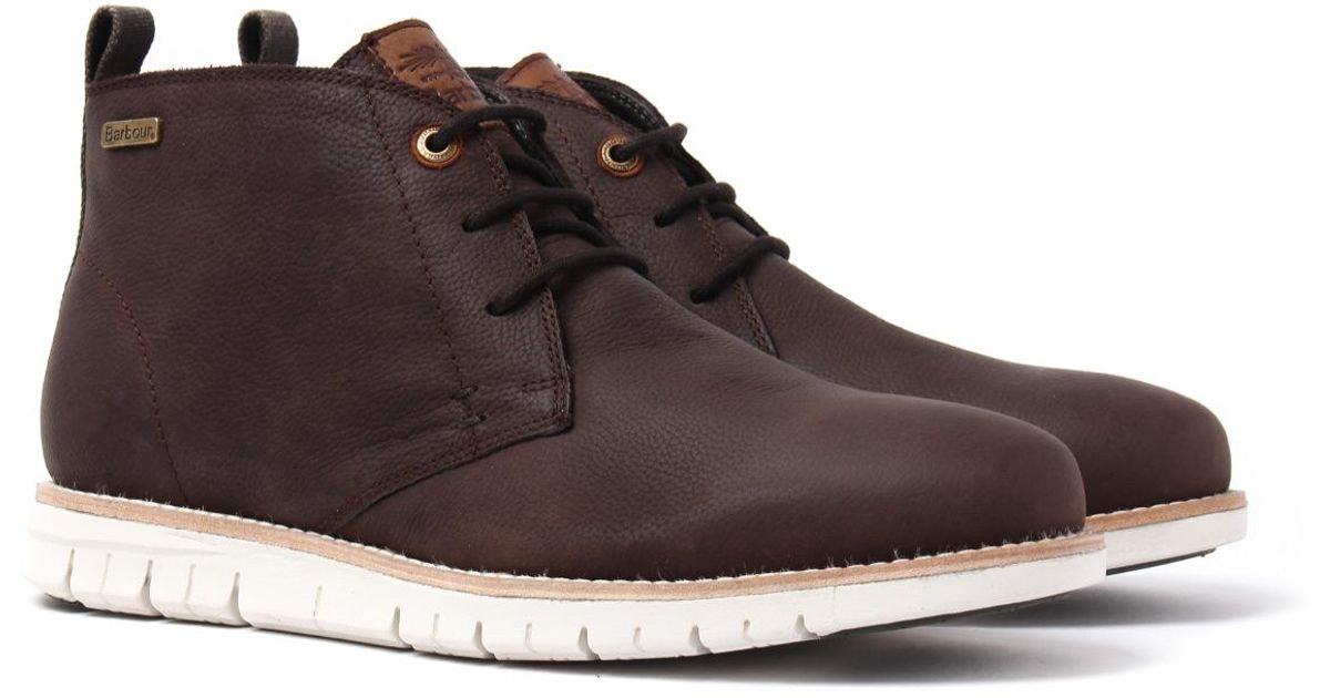 801be6f34fc Barbour Multicolor Barbour Burghley Truffle Grained Leather Chukka Boots  for men