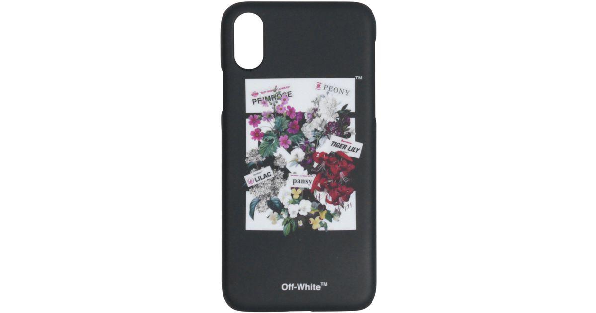 save off 8fcc2 6dd1f Off-White c/o Virgil Abloh Black Flower Shop Iphone X Case