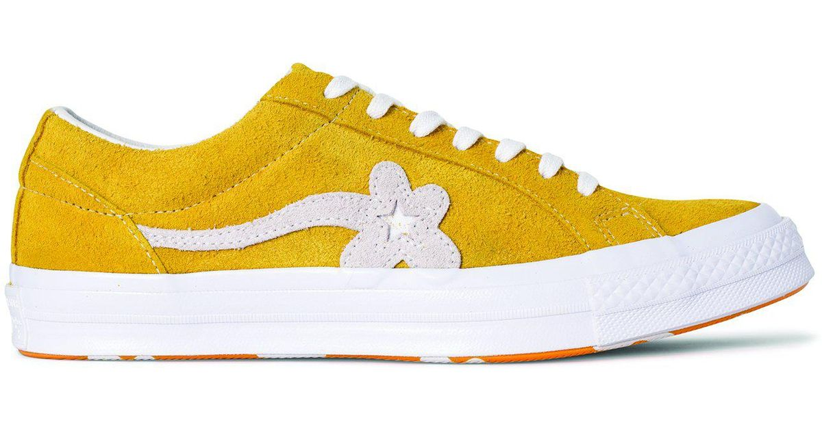 Lyst Converse One Star X Golf Le Fleur In Yellow For Men