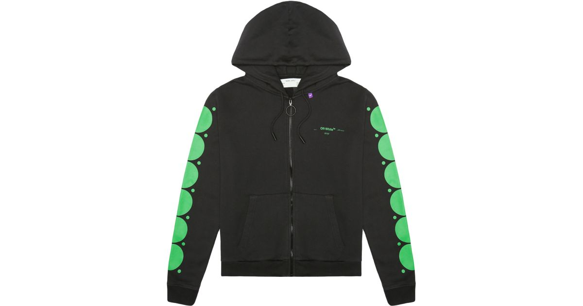 2e0644a9a7f7 Lyst - Off-White c o Virgil Abloh Dots Zip Hoodie in Green for Men