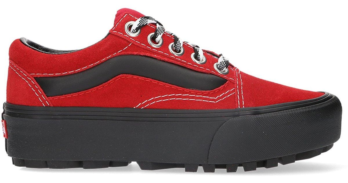 84a69ebd5c Vans 90s Retro Old Skool Lug Platform in Red for Men - Lyst