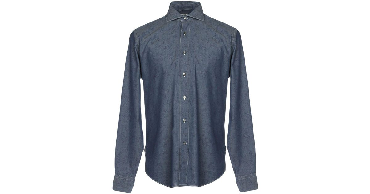 Clearance New DENIM - Denim shirts Bagutta Free Shipping Hot Sale Sale Discounts Discount Limited Edition YRTquuOFtj
