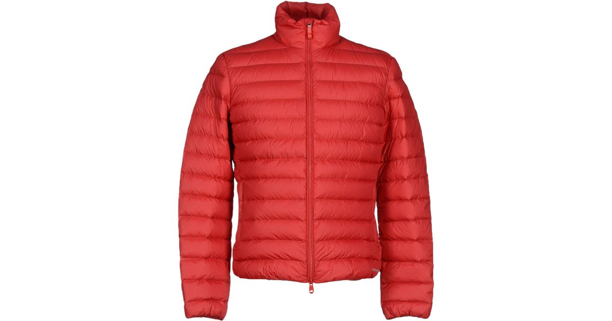 Geox Red Down Jacket for men